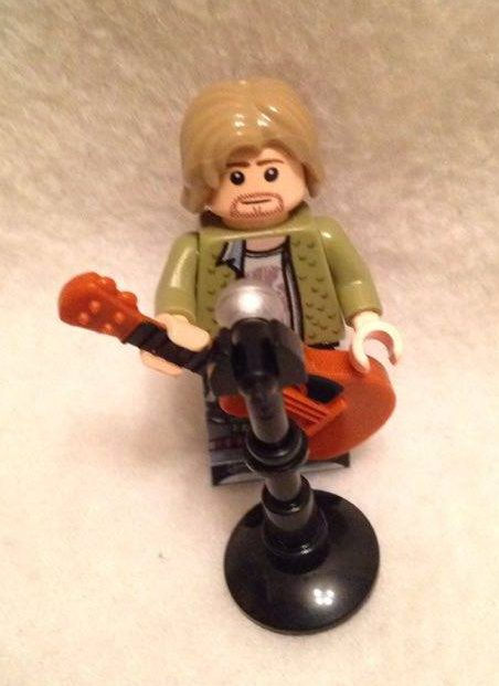 Kurt Cobain Grunge Icon Custom Lego Figure